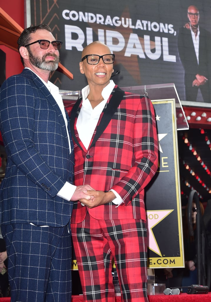 RuPaul and Husband at Hollywood Walk of Fame Ceremony 2018