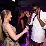 Jennifer Lopez and Leslie Jones.