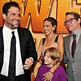 Director Brett Ratner joked around with SJP, James, and Matthew on the carpet.