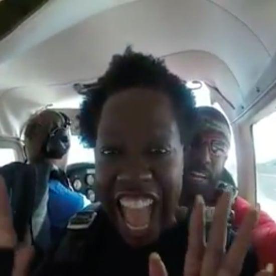 Viola Davis Skydiving Video 2019