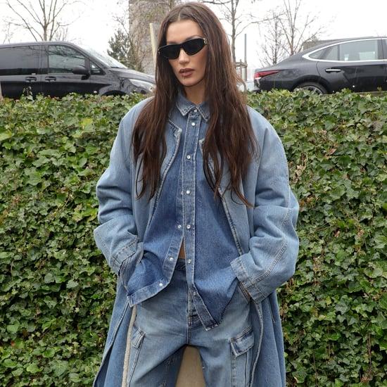 Bella Hadid Denim-on-Denim Outfit Paris Fashion Week Photos