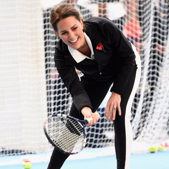 Kate Middleton Playing Tennis in London October 2017