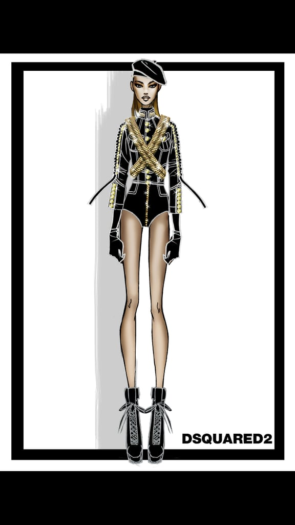 A Designer Sketch of Beyoncé's Performance Outfit