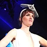 Heidi Lee's 3D-printed headwear definitely stood out.