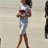 Kate Middleton arrives at LAX.