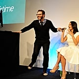 Sean Parker and Olivia Munn talked in person about online chat.