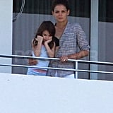 Katie Holmes and Suri in Miami.