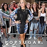 Demi Lovato posed for photos before heading inside X Factor auditions.