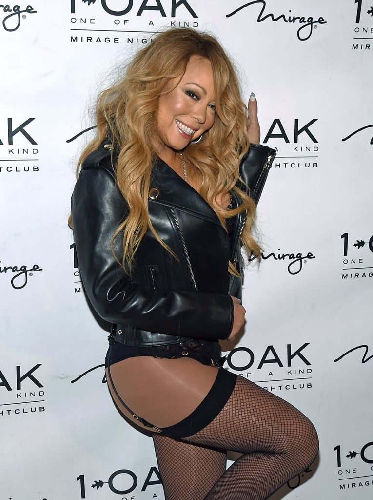 "Mariah Carey didn't hold back while debuting her DJ set at 1 OAK Nightclub in Las Vegas on Saturday night. The singer, who currently has a residency at Caesars Palace, rocked a lace bustier, leather jacket, and thigh-high fishnet stockings and struck a number of sexy poses for photographers before heading inside to the DJ booth. It's already shaping up to be a big year for the iconic singer and glamorous mum, who is planning her wedding to fiancé James Packer and gearing up for the premiere of her E! docuseries, Mariah's World. Most recently, Mariah turned on the charm for John Legend and his wife, Chrissy Teigen, when she serenaded the ""All of Me"" singer during a recent concert."