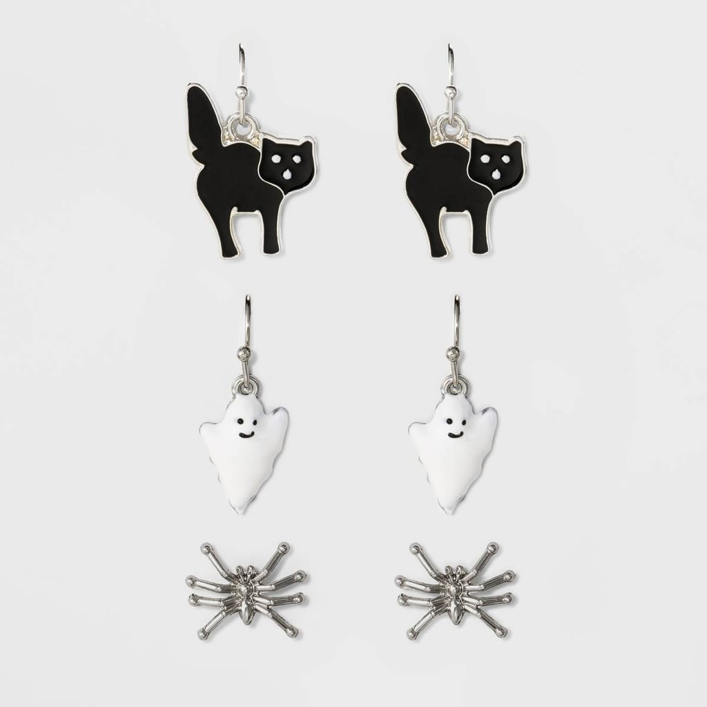 Spider, Ghost, Cat Trio Earring Set