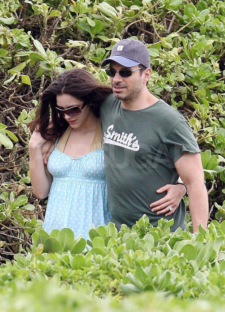 Katharine McPhee and Nick Cokas took a stroll in Maui after tying the knot in February 2008.