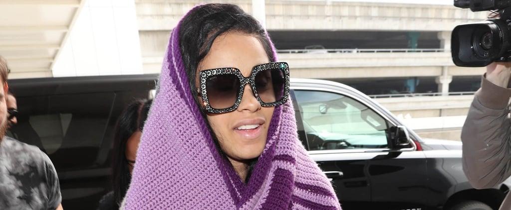 Cardi B's Purple Blanket