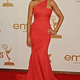 Sofia's 2011 Emmy Awards ensemble garnered all the attention it deserved — with a bright coral hue and mermaid silhouette, Vergara's Vera Wang confection was absolutely showstopping. She amplified her already stunning style with a gold cuff, emerald chandelier earrings, and a sultry smoky eye.