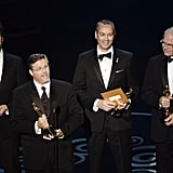 Life of Pi won for best achievement in visual effects.