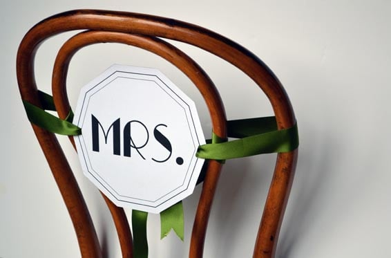 Art Deco Mr. and Mrs. Signs | Free Printable Wedding Sign Templates ...