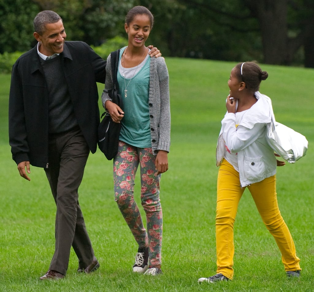 "When Robin Roberts interviewed Obama, he opened up about how his daughters influenced his pro gay marriage stance: ""You know, Malia and Sasha, they have friends whose parents are same-sex couples. There have been times where Michelle and I have been sitting around the dinner table and we're talking about their friends and their parents, and Malia and Sasha, it wouldn't dawn on them that somehow their friends' parents would be treated differently. It doesn't make sense to them and frankly, that's the kind of thing that prompts a change in perspective."""