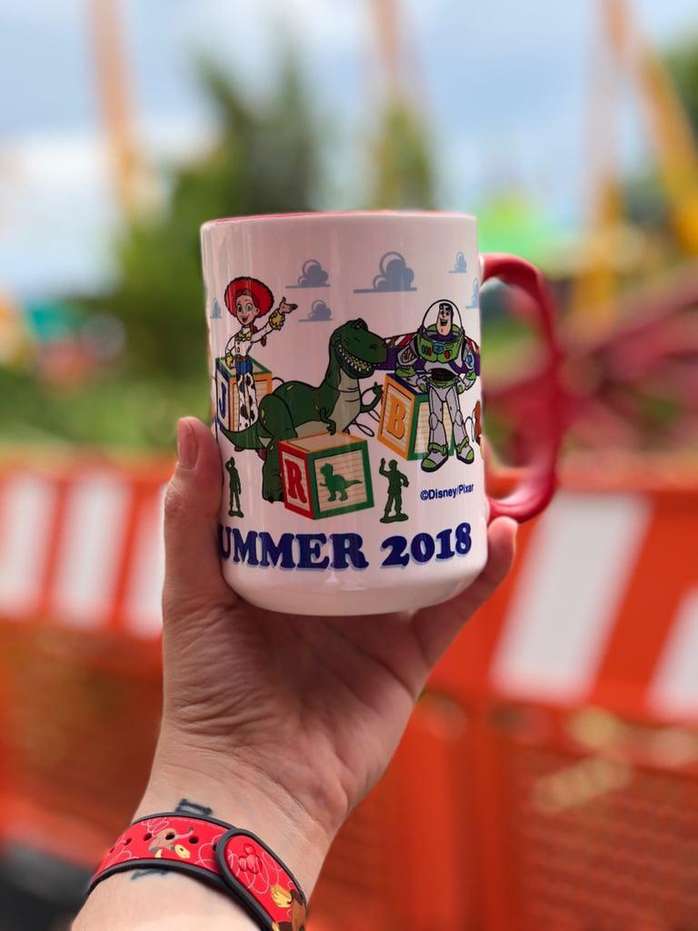 A seasonal Toy Story Land mug.