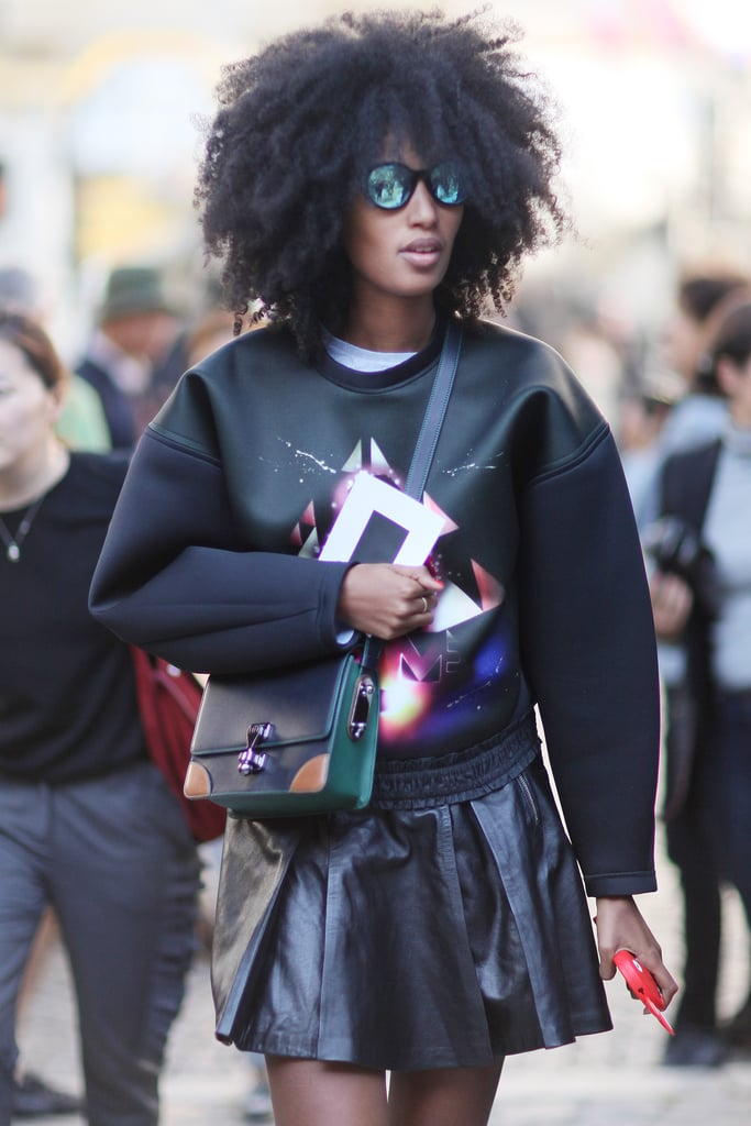 Julia Sarr-Jamois turned heads with her signature mix of brights, bold accents, and just flat-out cool styling.