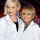 Nicole Richie and Jaime King rocked their blond up-do's above their lab coats.