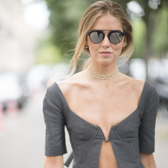 Chiara Ferragni Dior Top at Couture Week 2016