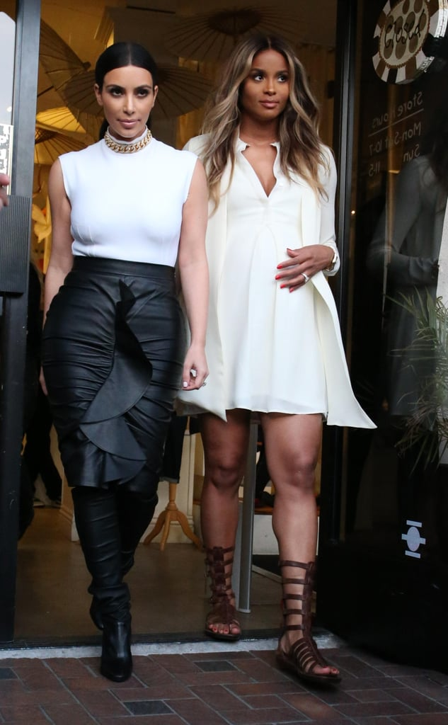 Kim Kardashian Must Be Sharing Mom Tips With Ciara