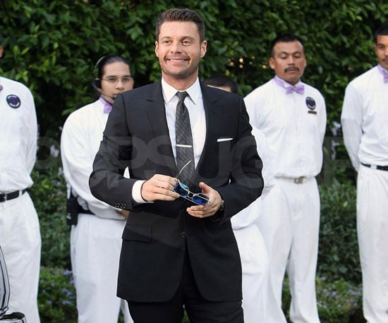 Slide photo of Ryan Seacrest at Khloe Kardashian's Wedding