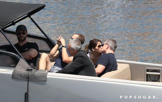 Chris Hemsworth and Matt Damon in Monaco May 2017