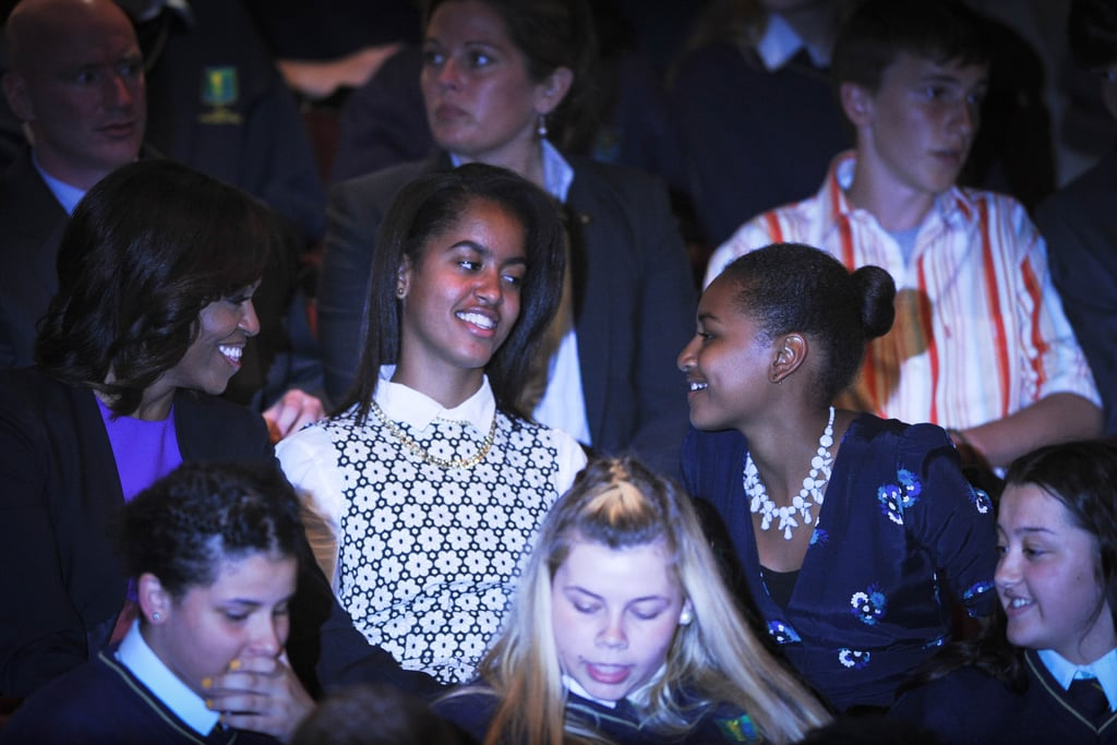 In June 2013, the Obama girls saw a performance of Riverdance in Dublin.