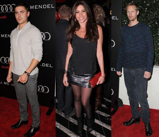 Pictures of Zac Efron, Alexander Skarsgard, and More at the Audi and J. Mendel Golden Globes Party 2011-01-10 12:18:10