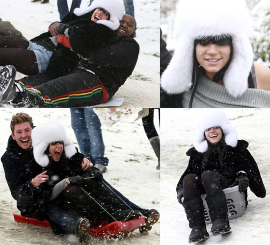 Gallery Of Photos: Sledding Lily Allen Loves The Snow!