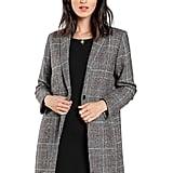 SheIn Lapel Collar Coat Long Sleeve Plaid Blazer