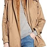 Derek Lam 10 Crosby Faux Fur Vest With Parka