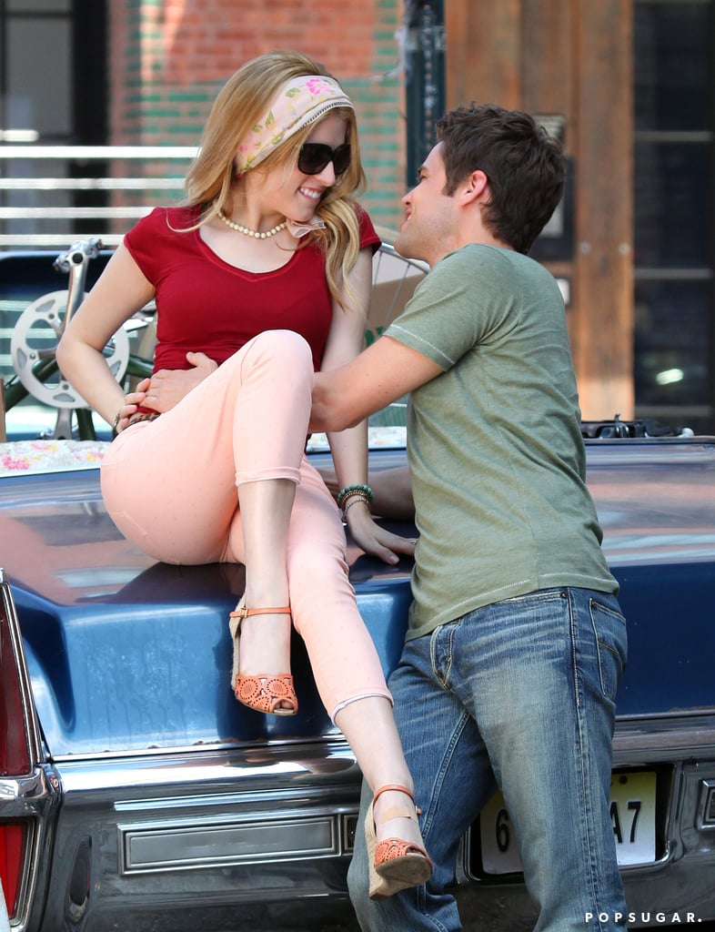 Anna Kendrick and Jeremy Jordan heated things up on the set of The Last Five Years in NYC on Wednesday.
