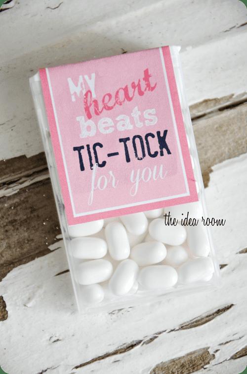 Tic Tac Valentine's Printable Label
