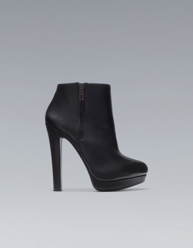 These will replace your sexiest heels come Fall and Winter — they'll go with everything and look just as sexy.  Zara Wide Heel Ankle Boot ($100)