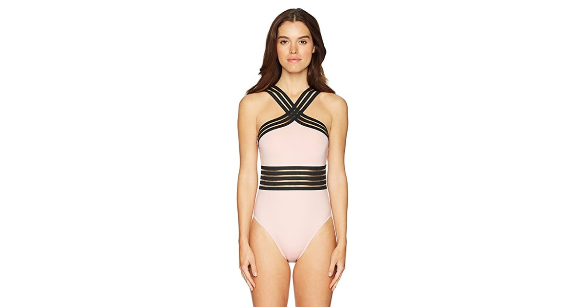 4b9a48e841 Kenneth Cole New York Women's High Neck Banded One Piece Swimsuit ...