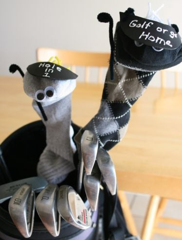 Lil Links: Father's Day Kid's Craft, Spruce Up His Golf Clubs!