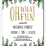 Holly Berries Holiday Party Invitation