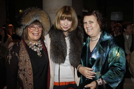 Hilary Alexander, Anna Wintour and Suzy Menkes
