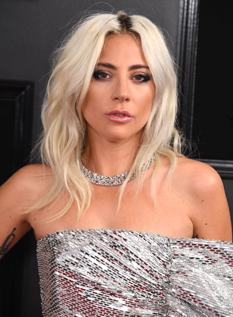 Lady Gaga's Platinum Hair With Dark Roots