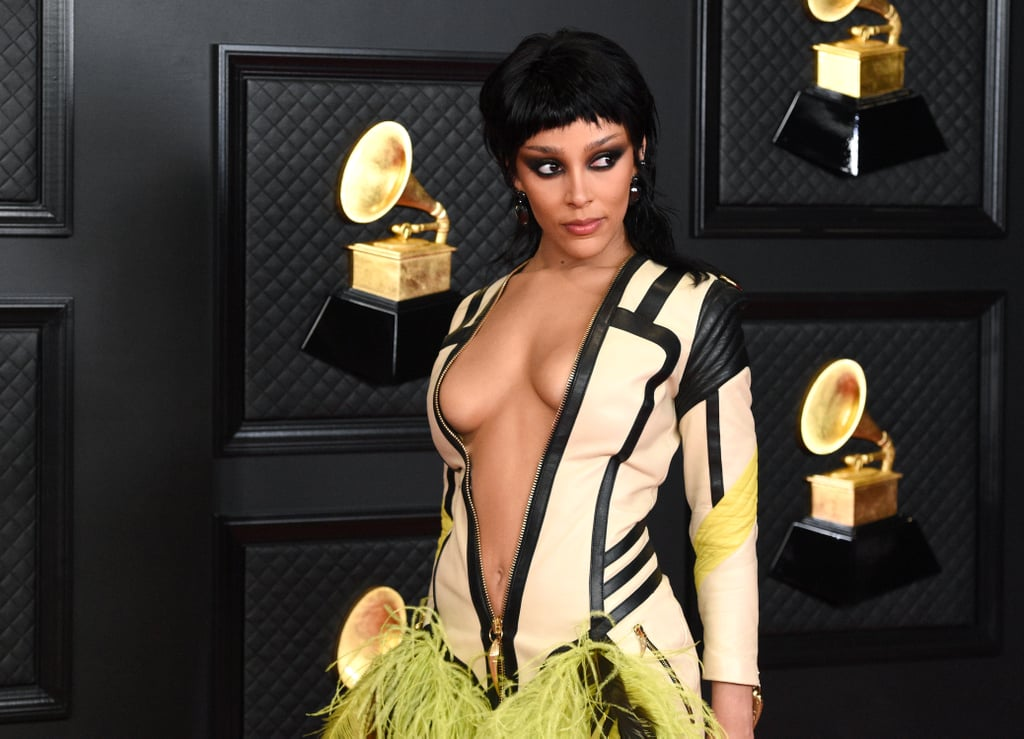 Doja Cat Wore a Mullet Haircut at the 2021 Grammys