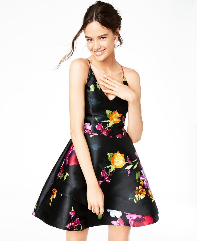 BCX Juniors' Asymmetrical Fit & Flare Dress