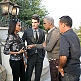 Jay Manuel advised Camille during the photo shoot.  Photo courtesy of The CW