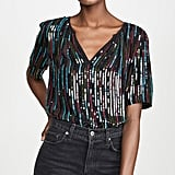 Velvet Nikky Retro Sequin Top