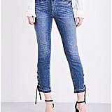 Paige Jacqueline Lace-Up High-Rise Jeans