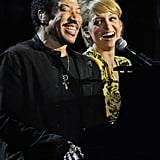 She joined her dad, Lionel, on stage during his special Las Vegas concert in April 2012 — so sweet!