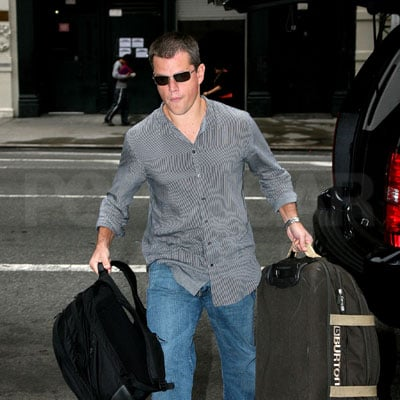 Matt Damon Arrives at His NYC Hotel