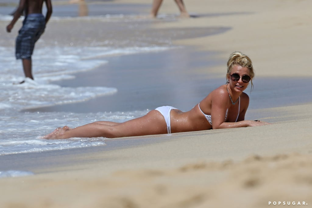 Britney Spears in Bikini on the Beach in Hawaii April 2017