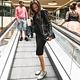 An LBD, Brogues, and a Leather Jacket