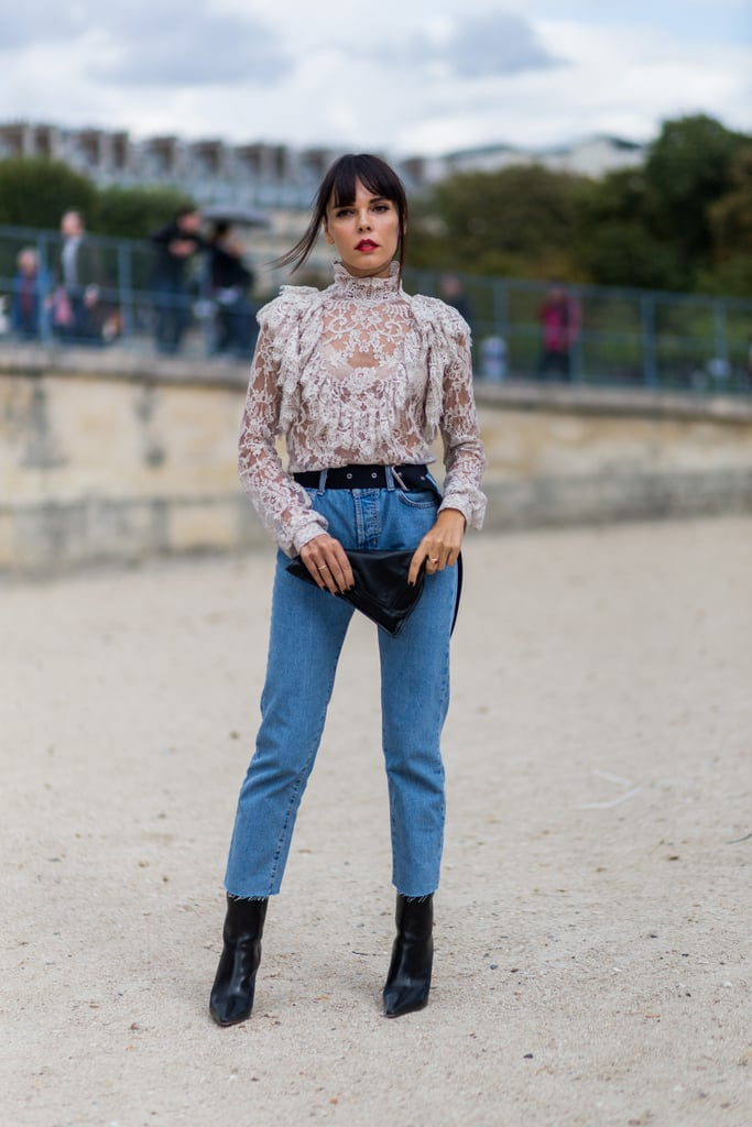 tuck a frilled blouse into your favorite mom jeans